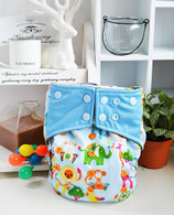 Bamboo Charcoal Cloth Diaper -Wonderland Blue