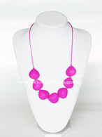 Teething Necklace NK029 Hot Pink