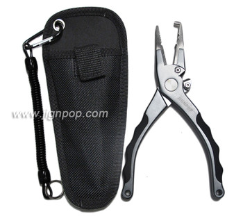"JIGNPOP Split Ring Pliers H-II (7.5"" with Silicon Handle, Case & Cord)"