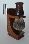 Oak shaving stand Razor and brush not included