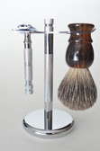 STAINLESS STEEL brush & razor stand stand only/brush and razor are not included