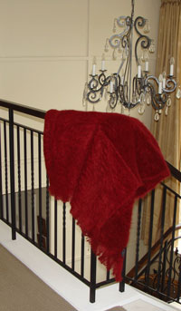 Autumn Red Throw blankets