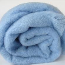 Sky Blue Mohair Blanket