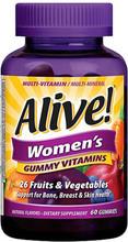 ALIVE WOMEN'S GUMMY VITAMINS 75CT
