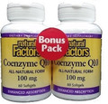 Natural Factors CoQ10 100 mg Bonus Pack 2x60 SG