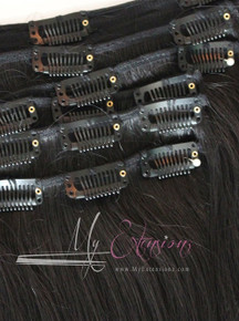 Clip-Ins - Vertical Natural Straight  6.0 - Mixed Origin- 70% Russian 30% Indian