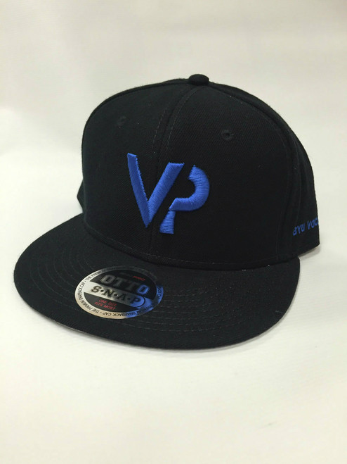 BYU Vocal Point Black VP Flat Bill Snapback Hat