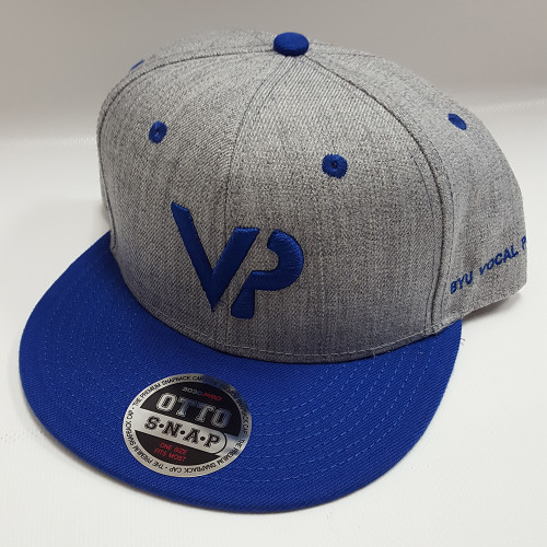 BYU Vocal Point Gray/Blue VP Flat Bill Snapback Hat