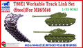 BRONCO MODELS AB3565 - 1/35 T80E1 Workable Track Link Set (Steel) for M26/M46
