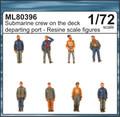 CMK ML80396 - 1/72 Submarine Crew on the Deck Departing Port