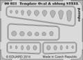 EDUARD 00031 - Template ovals & oblong STEEL (Photoetch)