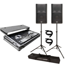 RENTAL Pioneer DDJ-SX w/ Case + QSC K12 Speakers + Stands & Cables Package   ***FREE LOCAL DELIVERY ***