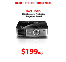 HI DEF 4000 LUMEN PROJECTOR RENTAL  ***FREE LOCAL DELIVERY ***