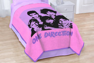 One Direction's Silhouette Coral Fleece Blanket