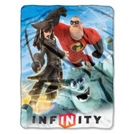 "Disney ""Infinity, Photo Bombing"" Micro Raschel Throw, 46 by 60-Inch"