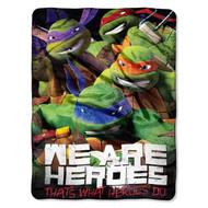 """Teenage Mutant Ninja Turtles """"We Are Heroes""""  Micro Raschel Throw Blanket, 46-inch by 60-inch"""