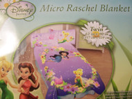 "Disney Fairies ""Friendships in Bloom "" Micro Raschel Twin Blanket"