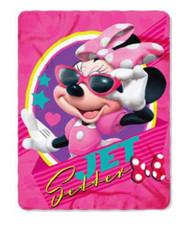 Minnie Mouse 'Jet Setter' Fleece Throw Blanket