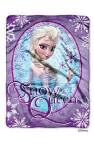 """Disney Frozen """"Snow Queen"""" Plush Micro Raschel Throw"""
