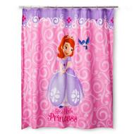 "Sofia the First ""Sofia Scrolls"" Shower Curtain"