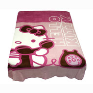 """Hello Kitty """"Ring Ring Telephone"""" Twin Blanket"""