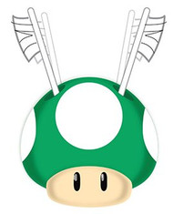 "Super Mario ""Simply the Best"" Green Mushroom Toothbrush Holder"
