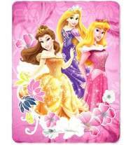 "Disney Princess Shining Flowers 45""x60"" Fleece Blanket"