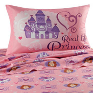 Sofia The First 'Real Life Princess' Twin Size Sheets Set