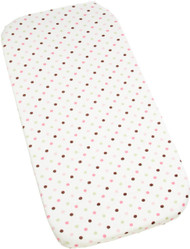 Carters Super Soft Printed Changing Pad Cover, Pink/Green Dots