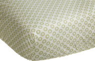 Carter's Green Elephant Fitted Sheet, Green 28 X 52""