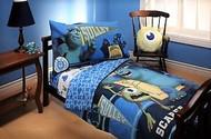 Disney Pixar Monsters Inc Monster TODDLER 4 Piece Bedding Set Comforter