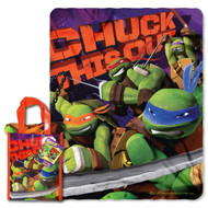 """Nickelodeon TMNT """"Ninja Chuck"""" 40-inch by 50-inch Micro Raschel Throw and Reusable Tote Set - by The Northwest Company"""