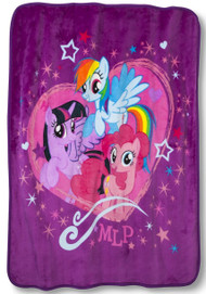 My Little Pony Throw Blanket with Canvas Tote Set