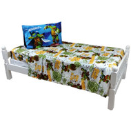3pc Teenage Mutant Ninja Turtles Twin Bed Sheet Set TMNT Turtle Power Bedding Accessories