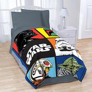 """Star Wars Classic Grid Twin Blanket 62"""" x 90"""""""