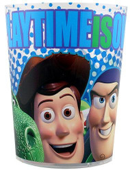 Disney Toy Story Woody and His Friends Playtime Is Over Plastic Trash Can Wastebasket