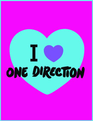 Global Entertainment One Direction I Heart Throw, Neon