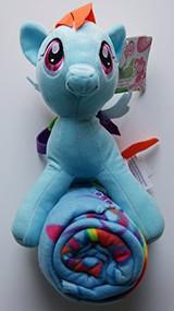 My Little Pony Rainbow Dash Character Plush and Fleece Throw Set