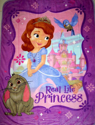Disney Sofia the First Plush Throw Blanket