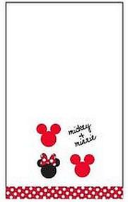 Disney Mickey and Minnie Hand Towel, White