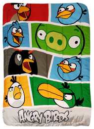 Angry Birds Twin Bed Comforter Bold Colors Blanket