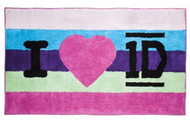 "One Direction Floor Rug 33"" by 57"" - 1D Pink"