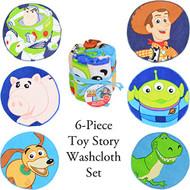 Disney Toy Story 6Pc Washcloth Set