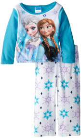 Disney Toddler Frozen Anna and Elsa Fleece Pajama Set - 2T