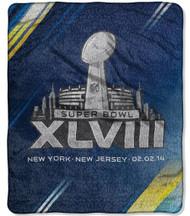 Super Bowl XLVIII Rush Sherpa Throw