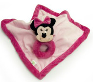 Minnie Mouse Security Blanket with Ring Rattle