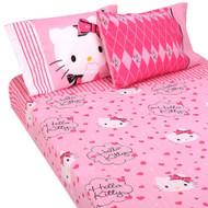 """Hello Kitty """"Sweet and Sassy"""" 4pc Full Sheet Set"""