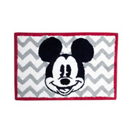 Disney Chevron Mickey Mouse Bath Rug