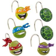 Nickelodeon Teenage Mutant Ninja Turtles Shower Curtain Hooks 12-pk.