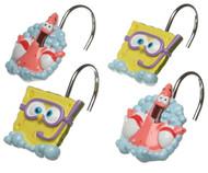 Nickelodeon SpongeBob Squarepants Bubbly Fun Shower Curtain Hooks